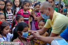 Giving of Mask in Salawagan Central Elementary School (SCES) 002