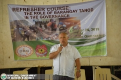 Refresher Course: The Role of Barangay Tanod in Governance at Municipal Gymnasium 010
